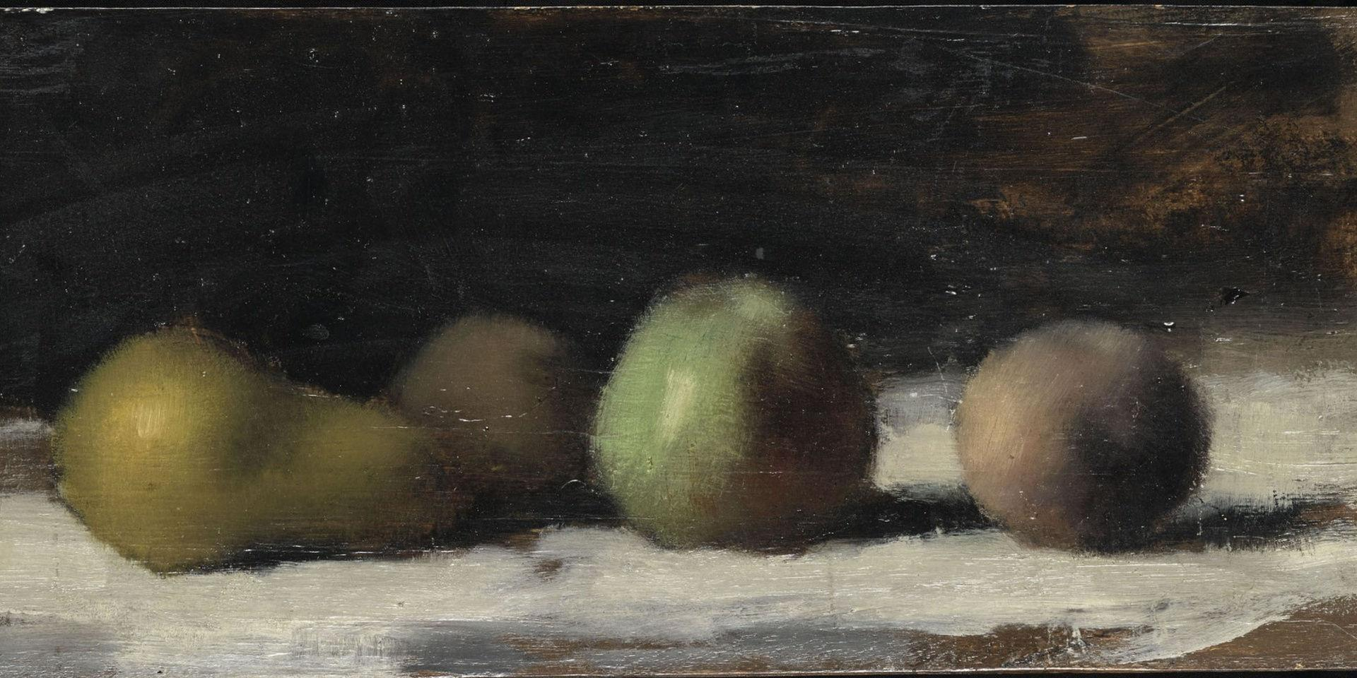 Henner Nature morte poire pomme pêches